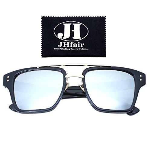 JHfair Designer Square Aviator Wayfarer Fashion Women Mens Sunglasses Metal - Have Bans All Do Protection Uv Ray