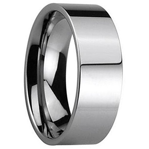 5mm S11 Wedding Bands Rings - WASOENMY Tungsten Steel Flat 4/6/8MM Men's Ring Comfort Fit Wedding Band Full And Half Sizes 4-15 4MM S11