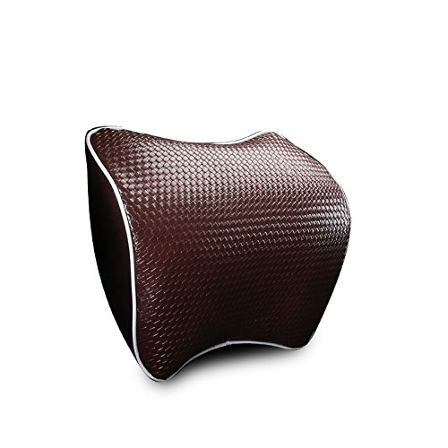 Meiyiu Space Memory Cotton Car Cushion Headrest Neck Support Pillow Brown