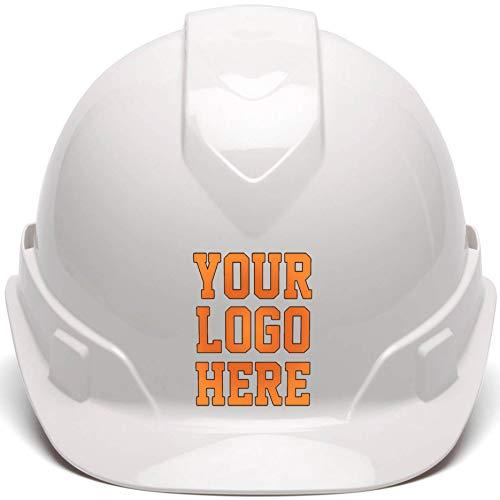 Construction Hard Hats With Logo (Custom Hard Hats - Personalized Logo - Pyramex Ridgeline Cap Style 4 Point Ratchet)
