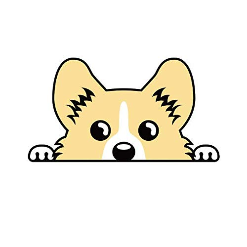 "ION Graphics Pembroke Welsh Corgi Sticker Decal Vinyl Cardigan 5"" Bumper Locker Laptop Window - Sticks to Any Surface"