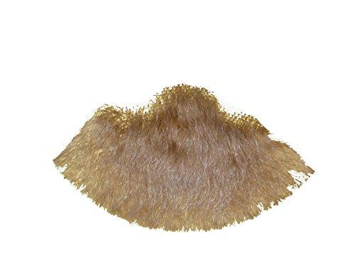 2022 Blonde Human Hair Goatee Chin Beard Costume Beard Includes 6 Free Adhesive Strips -