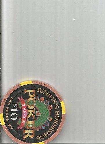 $10 binions horseshoe poker 1995 las vegas casino chip rare