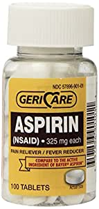 Bottled Aspirin 100/bottle