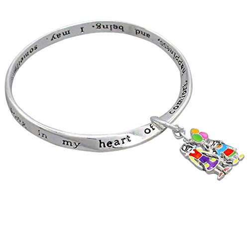 Rosemarie Collections Mother and Daughter Charm Bangle Br...