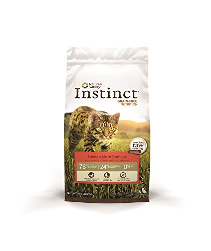 Instinct Original Grain Free Salmon Meal Formula Natural Dry Cat Food By Nature'S Variety, 5.5 Lb. Bag