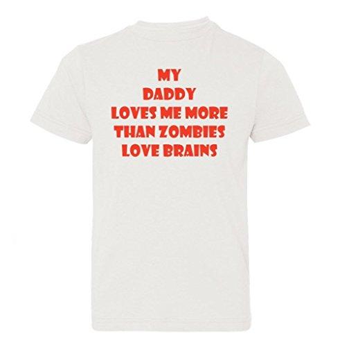 So Relative! Big Boys' My Daddy Loves Me Zombie Kids T-Shirt (White, Kids XL) -
