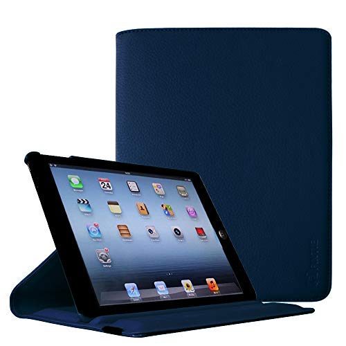Fintie iPad 2/3/4 Case - Multiple Angles Stand Smart Protective Cover for iPad with Retina Display (iPad 4th Generation), the new iPad 3 & iPad 2 (Automatic Wake/Sleep Feature) - Navy