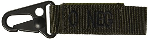 Voodoo Tactical Embroidered Blood Type Tags With Hook and Loop and Metal Clip
