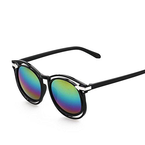 Aoligei Lunettes de soleil rétro flèche fashion tendance couleur film couleur lumineuse réfléchissant lunette de soleil LHD0I