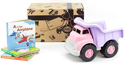 Green Toys Pink Dump Truck W//Board Book 3 Pack