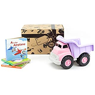 Green Toys Pink Dump Truck W/Board Book 3 Pack