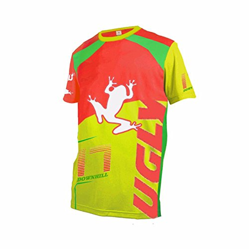Price comparison product image Uglyfrog MT04 Designs Bike Wear Men's Downhill Jersey Summer Short Sleeve Rage MTB Cycling Top Cycle Motocross Mountain Bike Shirt