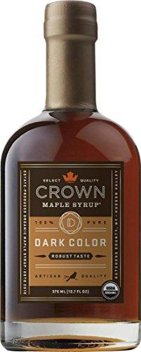 Crown Maple Organic Grade A Maple Syrup, Dark, 12.7 Ounce