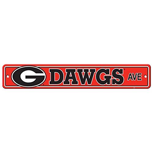 (Fremont Die Georgia Bulldogs Plastic Street Sign)