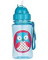 Skip Hop Zoo Straw Bottle, Holds 12 oz, Otis Owl