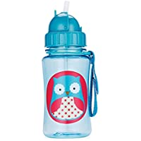Skip Hop Forget Me Not Kid Straw Bottle, Owl