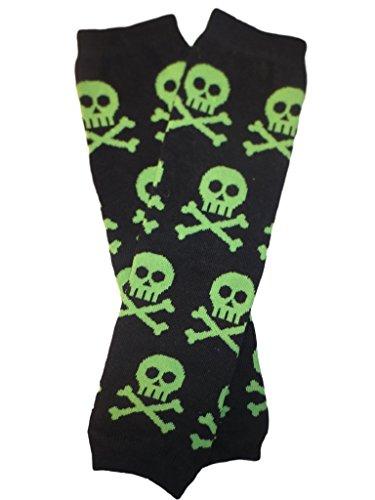 Kids/Baby/Toddler/Infants Halloween Green Skulls Leg (Skull Leg Warmers)