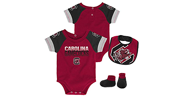 Outerstuff Infant South Carolina Gamecocks Creeper Set Baby Snapsuit Set