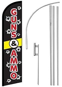 Viento, Swooper, plumas, Banner bandera Guns & munición, poste & estaca