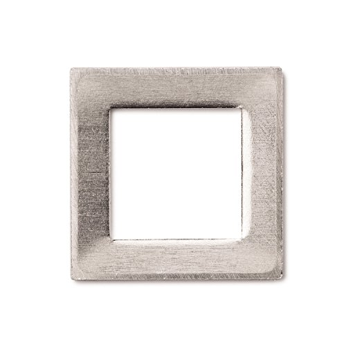 RMP Stamping Blanks, 1 Inch Square Washer with 5/8 Inch Hole, Aluminum .063 Inch (14 Ga.) - 50 Pack