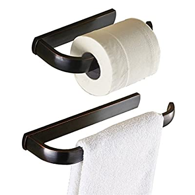 BigBig Home Oil Rubbed Bronze Finish Brass Material Bathroom Accessories Set Toilet Paper Holders Towel Ring Wall Mounted