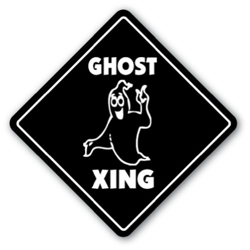 Ghost Crossing Novelty Sign