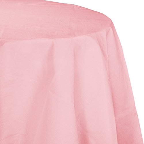 Pink Paper Tablecloths - Creative Converting 923274 Touch of color 12Count Octy-Round Paper Table Covers, , Classic Pink