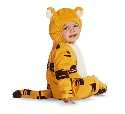 Disguise Baby's Disney Tigger Prestige Costume, Orange/Black, 12-18 (Tigger Costume Toddler)