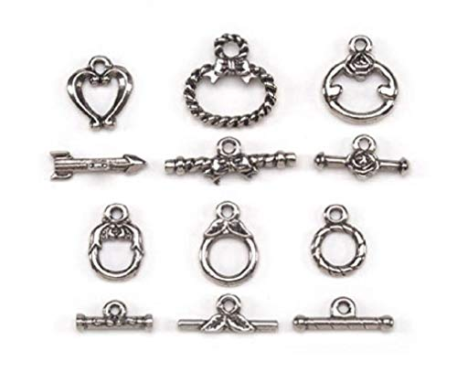 (Silver Or Gold Colored Metal Toggle Clasps 6 Sets Jewelry Crafts Findings)