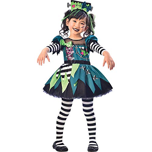 Suit Yourself Monster Miss Halloween Costume for Toddler Girls, 3-4T, Includes Headband -
