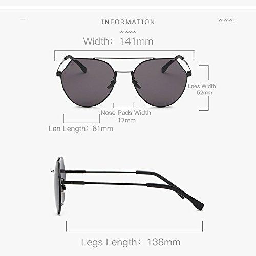 Black Las Gafas Sol De De Polarizadas Sol De De del Sol Desgaste Personalizadas Gafas De Irregulares Color Moda Gafas del Mujeres Black 11zrwUOnx