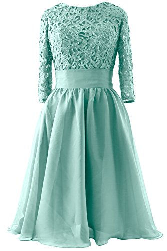 Formal Mother Lace Gown Turquoise Evening MACloth Short 3 Bride Women 4 of Sleeve Dress qwYIvp