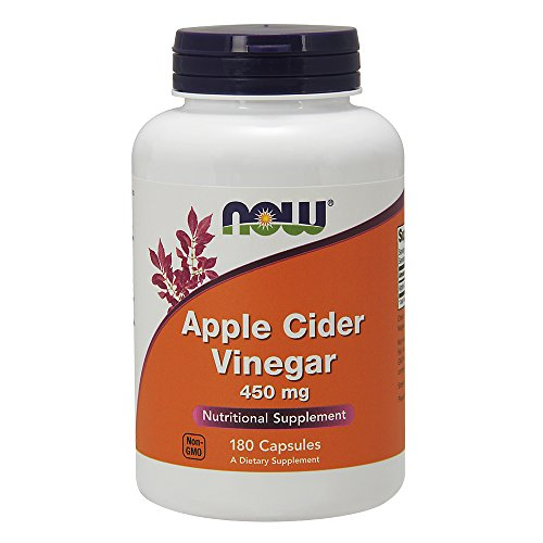 NOW Foods Apple Cider Vinegar High Potency -- 450 mg - 180 Capsules by NOW Foods