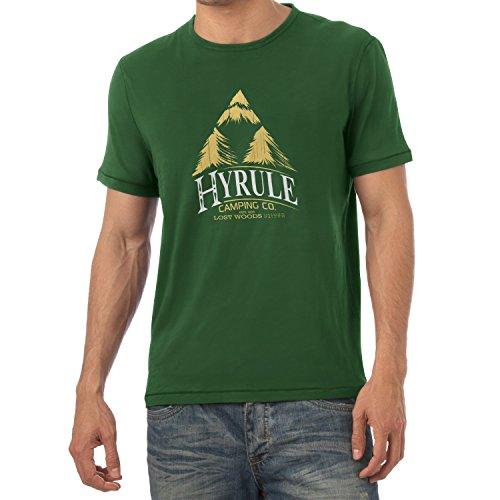 Texlab Hyrule Camping Co - Herren T-Shirt, Größe L, Flaschengrün