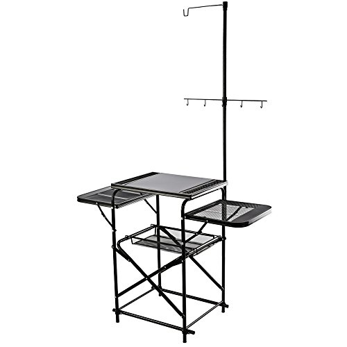 Magicook Aluminum Folding Table, Portable Camp Kitchen, Fold-up Outdoor Kitchen with Hooks Design for Grill BBQ