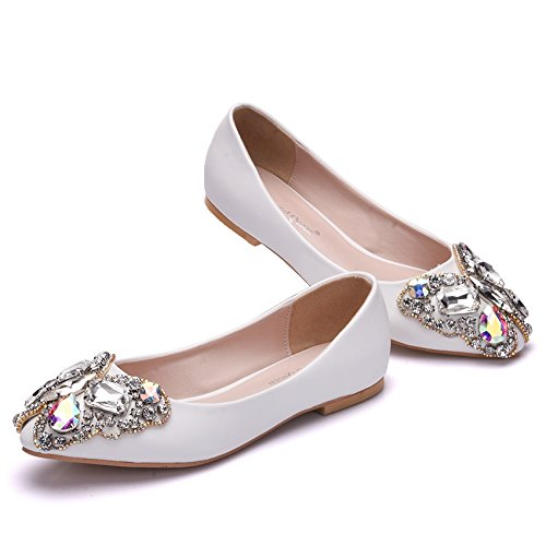 Qingchunhuangtang@ Frühling und Sommer Schuhe Schuhe Schuhe Bogen spitze Schuhe All-Match Diamant Hochzeit Schuhe e1e663