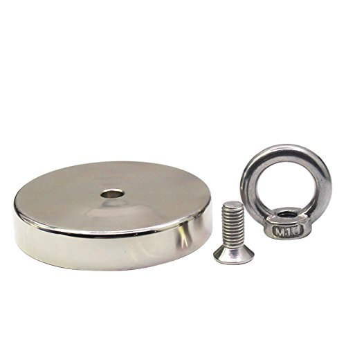 Fishing Magnet - 900 LBS Pull Force Neodymium Round Magnet for Magnet Fishing, 3.5'' Diameter Strong Heavy Duty Magnets Fishing 1000