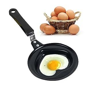 zinnor Mini huevo frito Pan sartén con tapa Cook para tortitas de ...