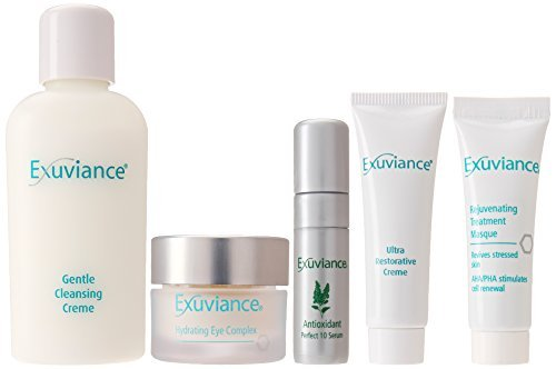 Exuviance Essentials Sensitive Skin Care Travel Collection, 5 Count by Exuviance