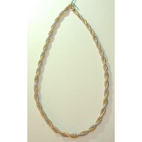 Damiata bijoux-Collier Ras du cou Femme-Or Jaune et Blanc 18 carats (750)