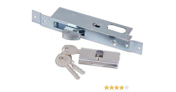 Cerradura de gancho para puerta corredera + herraje: Amazon.es ...