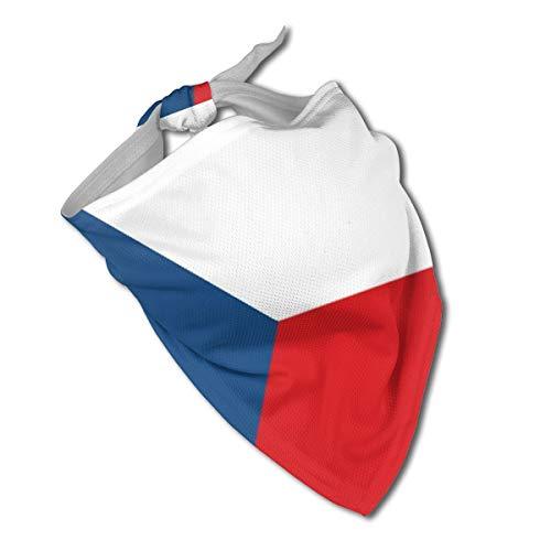 HFdAK.t Czech Flag Cute Dog Bandana Triangle Bibs Washable Pet Scarfs for Pet Birthday Gift
