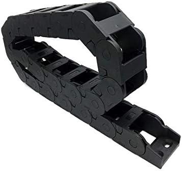 """WNJ-TOOL, 1pc 25x38 1Meter 100cm 40"""" Connection Innenöffnung Kunststoff Schleppkette Kabelschlepp Drahtträger mit Anschluss for CNC (Farbe : R55, Größe : 25x38 mm)"""
