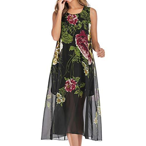 iHPH7 Dresses for Women Casual Summer Dresses for Women Party Long Dress Wedding Dresses Long Gown Dresses for Women Long Gown Gown Dresses for Women (XL,16- Black) ()