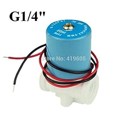 "0-120PSI 12VDC G1//4/"" solenoid valve Plastic valve Normally Closed 2-Way Valve  I"