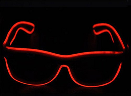 Miyare 8 colors optional Haloween Fluorescent glasses,Wire LED Light Up Fashion Glasses Illuminated Neon LED Eyeglasses For Parties, Costume, Ball, Disco Clubs, Birthdays, Festivals (Best Haloween Costumes)