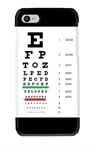 Amazon Snellen Pocket Eye Chart Cell Phone Case For Iphone