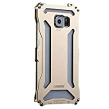 KANENG Galaxy S6 Case , [Transformers] Extreme Luxury Shockproof Aluminum Metal Military Heavy Duty Protection Cover Case Iron Case Cover for Samsung Galaxy S6 G9200 (gold)