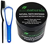 Natural Teeth Whitening Activated Charcoal Powder In Bulk Package (50g) + High Density Charcoal Toothbrush + Tongue Cleaner + Tips, Tricks, Benefits & Best Use of Activated Charcoal Electronic Book Value Pack (Use it Again & Again)| 100% Pure Food Grade,